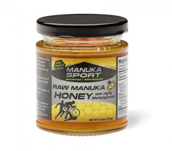 ManukaSport Raw Manuka Honey MGO 100 + | 250g